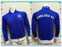 active thailand - New Product Thailand Chelsea Blue Jacket clothes out tracksuit coat Football Suit Training Shirt soccer Jersey Jacket
