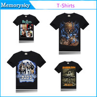 band t shirts wholesale - 3D t shirts Unique Creative Bone Skull Printed Indian Wolf T Shirts Bob Band Novelty Shirt Black Summer