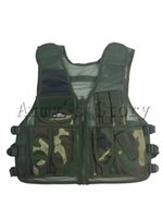 Wholesale Woodland Camouflage Vest Tactical Army Military Vest Airsoft Outdoor Hunting Cs War Game Molle Protective Assault Durable Vest