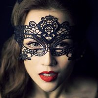 Wholesale 2016 Fashion Lace mask party mask Halloween Masquerade Festive Party Half Face Mask Woman lady Sexy Mask Black For Christmas cosplay costume