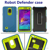 bags clips - 1 High Quality Robot in Case Defender Hard Cover Front Screen Clip for iPhone s plus s c s Samsung S7 S6 Edge with Opp Bag