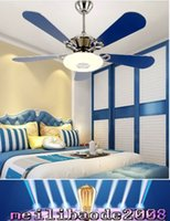 abs contracting - Ceiling Fans lights Contracted fashion sitting room dining room fan lights led Remote control quot blue CCC CE RoHS MYY