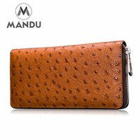 animal stock photos - Genuine Leather Men wallets purse men fashion zipper clutch wallet large capacity men s purses wallets leather hand bag In Stock MD1012