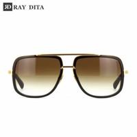 b eyewear - Dita Brown Luxury Brand Retro Womens Mens Aviator Sunglasses for Men Women Sun Glasses Eyewear Mach One DRX B K