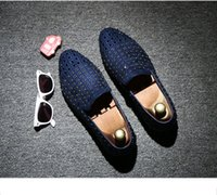 studded shoes - Hot sale brand new Fashion Men s Punk Studded Rivet Spike Suede Pointy Loafer Casual Dress Shoes size EU