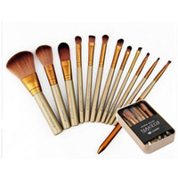 Wholesale N3 Makeup Brushes set Powder foundation eyeshadow blush Brush sets with Gold handle soft hair Cosmetic Brushes Kit Face make up