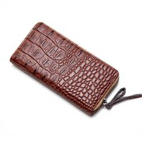 american bank note - New classics Ladies Purse alligator synthetil leather zipper wallets more capacity of bank card wallet women mobile phone bag
