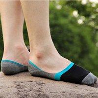 best travel socks - Best seller Pair Four seasons Men s Bamboo Fiber Boat Socks Invisible Contrast Color Socks Men short gift travel socks