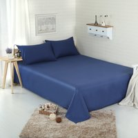 Wholesale 2016 New Bed Sheets Pure Color Cotton Twin Full Queen King Size Home Textile