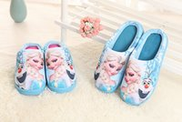 Wholesale Children s Disney Princess cotton slippers cute comfortable girls skidproof household shoes printed cartoon slippers