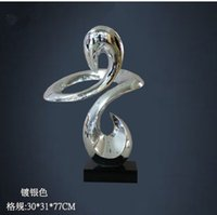 art assembly - Hotel cruising sculptures minimalist style abstract Resin plating crafts decorated with soft assembly home accessories fashion