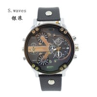 american clocks - New Brand Dieseler American Men s Time Zone Leather Wristwatches Casual Fashion DZ7313 Clock Dial Masculino Relogio Reloj Quartz Watches