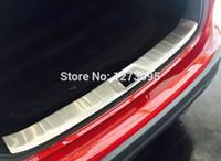 achat en gros de door sill plate-Acier inoxydable arrière Trunk Scuff interne Plate pour Nissan Qashqai 2014 2015 2016 J11 Bumper Door Sill Protector Accessoires voiture