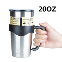 Wholesale 2016 YETI oz oz Rambler Tumbler Cup with handle Beer Mug Double Wall Bilayer Vacuum Insulated ml Stainless Steel large capacity