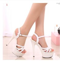 america navy - Summer new paint female sandals black cm super fine with high heels waterproof catwalk shows in Europe and America nightclubs shoes