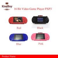 Wholesale Hot selling16 Bit Video Game Player PXP3 PXP Slim Station Pocket Game Game Card Retail Box A YXJ free DHL