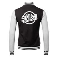 band uniforms - Fall Room On Fire Is This It winner Sportswear hoodie baseball uniform lover s jacket Casual coat the strokes band Julian Casablancas