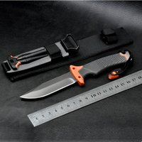 bell fix - 254mm Fixed Blade GB Bear Bell SURVIVAL SERIES HRC knife scout EDC pocket rescue Folder knife knives in Sheath and box