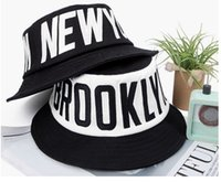 jordan hats - 2016 New Fashion Letters Printed Cotton Black Flat Topped Fisherman Hat Men and Women Couples Street Summer Jordan Bucket Hat
