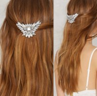Wholesale European version of the simple wild hair ornaments handmade flash diamond gemstone hairpin hair ornaments