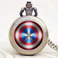 america songs - Pocket Watch Captain America Shield Fullmetal Alchemist A Song of Ice and Fire Family Crests Eagle P1101