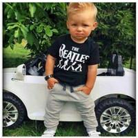 beatles clothing - Ins Children Clothes Sets Boys Clothing Suits Kids Sport Suit Beatles Fashion Boy T Shirts Tee Shirt Harem Pant Cotton