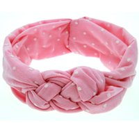 Wholesale New Polka Dot Headband Children Baby Hair Accessories Weave Twisted Headband Colors Pink Black White Gray Green