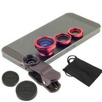 Wholesale 3 in Universal Clip Fish Eye lens Wide Angle Macro Phone Fisheye Lens For iPhone Samsung htc lg lowest price on DHgate