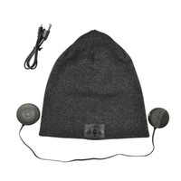 Wholesale Min Bluetooth Music Hat Soft Warm Wireless Speaker Receiver Outdoor Sports Smart Cap Headset Headphone support for iphone s Samsung