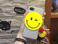 bell key case - For Iphone Plus soft vertical cases Iphone S Plus big smile face back cover protective shell with Bell tassel key ring