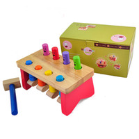 benches baby - Toys Paradise Baby Toys Pounding Bench Years Old Wooden Toy Classic Toys Montessori Birthday Gift