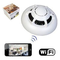 Wholesale HD UFO WI FI WiFiPoint to Point Smoke Detector Wireless IP Camera Hidden Nanny Cam Video Recorder Camcorder P2P