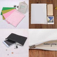 bale bags - Canvas Clutch Bag Purse Handbag File Pocket Coin Purse Cosmetic Debris Storage Bag Cloth Bale with Zipper with Cotton Lining