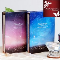 Wholesale quot Silent Night quot Metal Cover Any Year Blank Diary Cute Planner Luxury Journal School Study Notebook Agenda Notepad Memo Gift