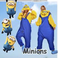 adult size onesie - Hot Kawaii Minions Kigurumi Pajamas Cosplay Costume Adult Onesie Sleepwear Size S M L XL