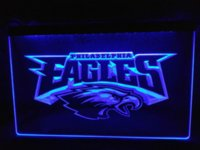 Wholesale LD054 Philadelphia Eagles Football LED Neon Light Sign home decor crafts