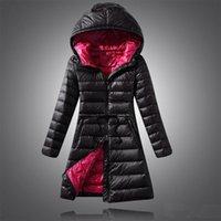Wholesale 2016 new arrive winter casual fashion slim women s down coat women s Outerwear plus size down jacket Hooded long down coat WHITE