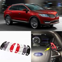 Wholesale 2pcs Brand New High Quality Alloy Add On Steering Wheel Aluminum Shift Paddle Shifter Extension For Lincoln MKX