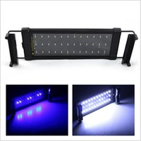 Wholesale 6W LED Aquarium Lid Light V SMD Blue And White Mode Decorative Lamp For Fish Plant Lighting With EU UK US Plug