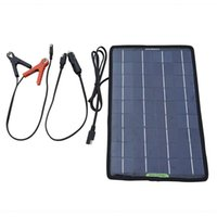 alkaline definition - charger definition V W Portable Solar Panel Multifunction Solar Battery Charger for Cars Boat Motorcycle Battery Maintainer