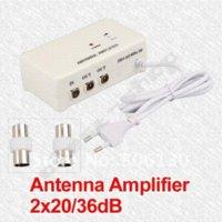 aerial booster splitter - FM TV Amplified Aerial Antenna DVB T Signal Amplifier Booster Splitter TV ANTENNA antenna booster tv