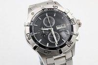 aquaracer quartz watch - 2016 Hot Sale Brand Tag Quartz Watch Men Aquaracer Silver Case Black Dial Stainless Band HeuerWatch Montre Homme