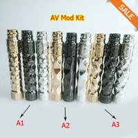av setting - AV Twistgyre Mod Kit set Double Cross Kit Spectrum Mod Stealth Mod kit X Complyfe Battle Deck RDA black silver gold colors