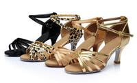Wholesale 2016 Women s Ballroom Latin Tango Dance Shoes cm heeled Brand New girl s shoes A01