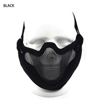 Wholesale Hot Sale High Quality Tactical X22CM Black TAN Green CP Color Men V9 Half Face Mask For Hunting Shooting Outdoor Sport CL9
