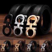 belted cow belts - Feigelamu Gold silver black buckle belts for men fashion brand designers luxury cow genuine leather belt size cm