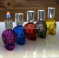 lamp oil - Colorful personality skull alcohol lamp glass hookah smoking pipe Glass gongs oil rigs glass bongs glass hookah smoking pipe vap vapo