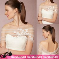 Wholesale BHLDN Jenny Yoo Bridal Wedding Cover Ups Wraps Jackets Bolero Unique Vintage Cheap Custom Made Accessories for Special Occasion Dresses