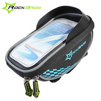 Wholesale ROCKBROS Inch Riding Bike Frame Front Tube Bag Cycling Bag Pannier Smartphone GPS Touch Screen Case Bicycle Accessories Colors