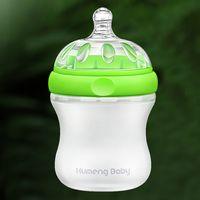 Wholesale Kumeng Baby Imitation Breast Extra Wide Neck Silicone Baby Bottle